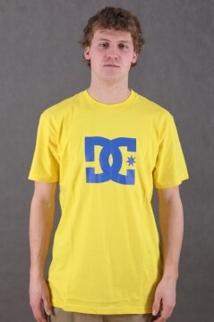 DC t-shirt Star yellow/blue