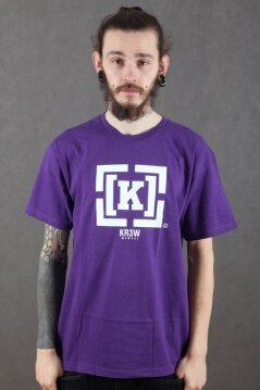 KR3W t-shirt Bracket purple