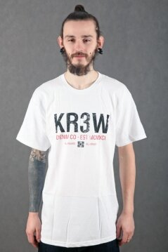 KR3W t-shirt Denim Co2 white