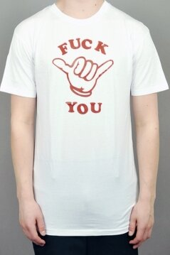 KR3W t-shirt Fuck You white