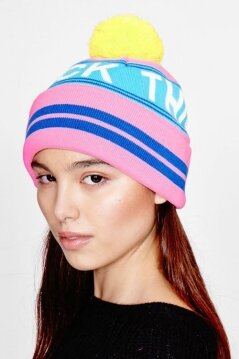 Lazy Oaf F*** This Noise Bobble Hat