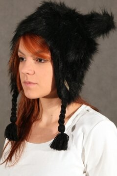 Neff czapka Little Fur black
