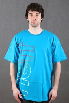 Neff t-shirt Corporate Fade turquoise