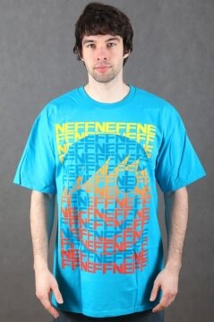 Neff t-shirt Sequence turquoise