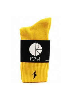Polar Skate Co No Comply Socks yellow